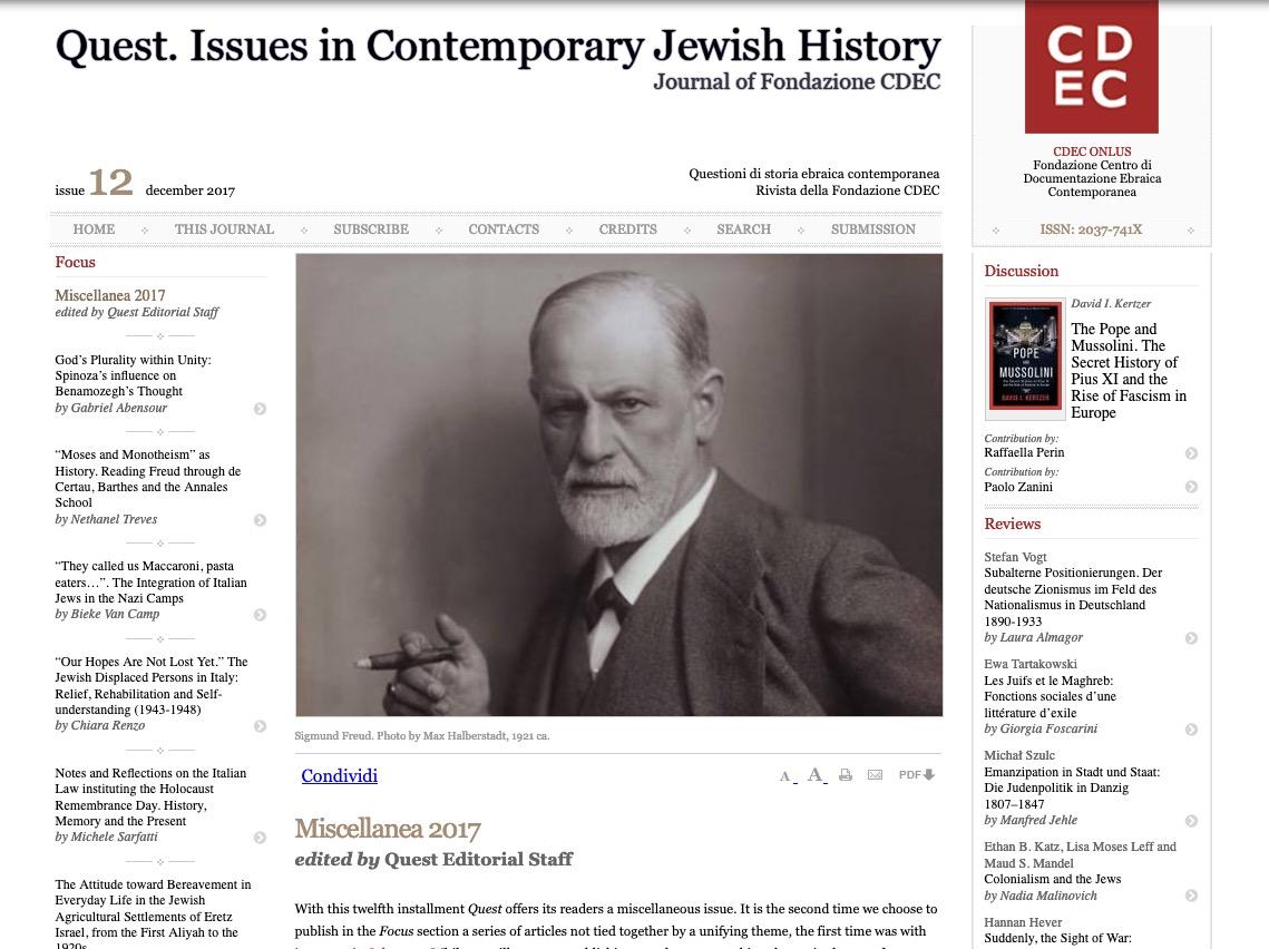 Rivista storica internazionale CDEC
